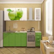 """Кухня """"Яблоко"""" с фотопечатью."""