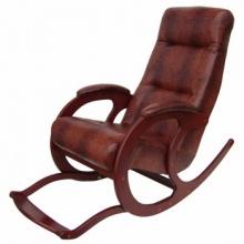 Кресло-качалка из экокожи Блюз-5 с подножкой (017.005)