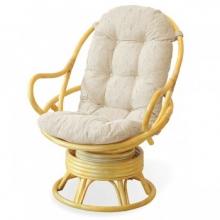 Кресло-качалка вращающееся Classic Rattan 005.001 с подушкой