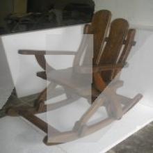 Кресло-качалка состаренная
