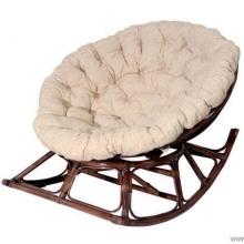 Кресло качалка 23/04 из ротанга с подушкой