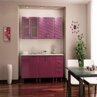 """Кухня """" Фиолетовая роза"""" 2,0 м."""