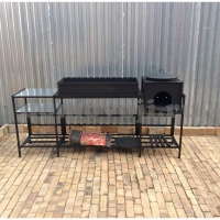 Мангал Модульный-90+печь+тумба