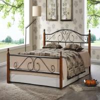 Кровать металлическая+дерево 815