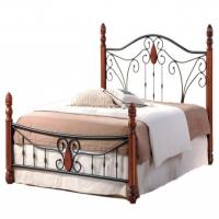Кровать металлическая+дерево 9003