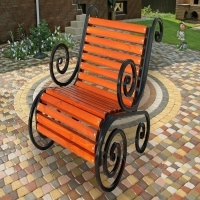 Кресло садовое Ажурное км-1