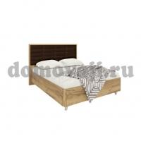 МК 52 (золотистый дуб) Изделие №233 кровать кожзам коричн, кирпич
