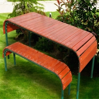 Набор садовый  (стол+2 лавочки) КМ-3