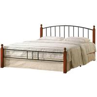 Кровать металлическая+дерево 915