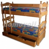 Кровать двухъярусная точеная Паланда