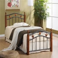 Кровать металлическая+дерево 126