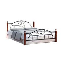 Кровать металлическая+дерево 808