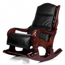 Кресло-качалка Классика орех с подушкой (006.001)