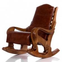 Кресло-качалка Классика светлый орех с подушкой (006.001)