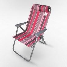 Кресло шезлонг складное 2 ПВХ